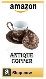 turkish coffee cups copper.