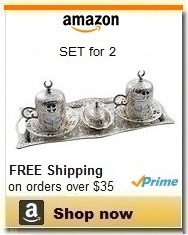 Brass Turkish Coffee Serving Set for 2