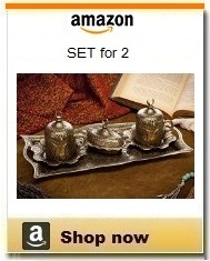 Ottoman Turkish coffee serving set