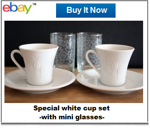 Special Turkish coffee cup set
