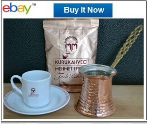 Traditional Turkish coffee serving set