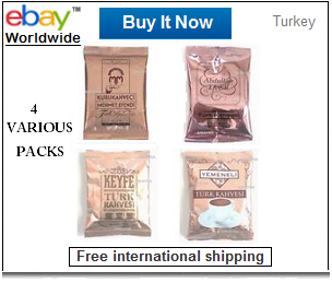 Various Turkish coffee brands