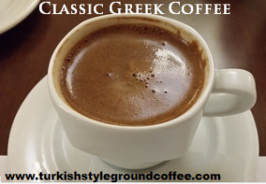Classic Greek coffee
