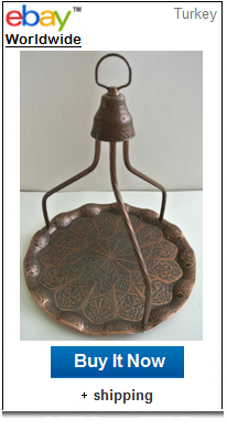 Copper hanger Turkish coffee tray