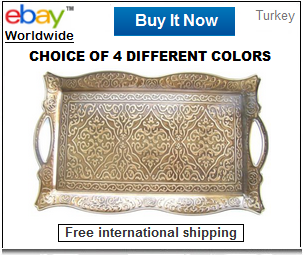 Ottoman style Turkish coffee tray