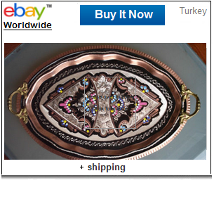 Decorated Turkish coffee tray