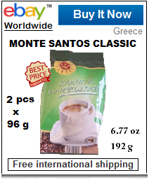 Greek coffee Monte Santos green pack