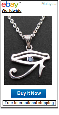 Horus Ra evil eye necklace