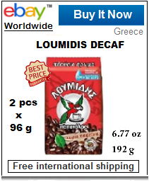 Loumidis decaffeinated Greek coffee