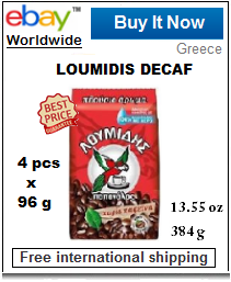 Loumidis decaf Greek coffee