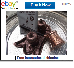 Turkish coffee serving set & coffee