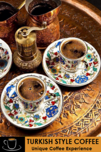 Needed utensils for Turkish coffee