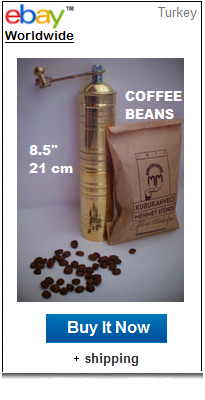 Turkish mill with Mehmet Efendi coffee beans