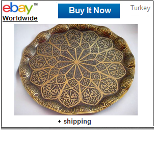 Wavy Zamak Turkish coffee tray