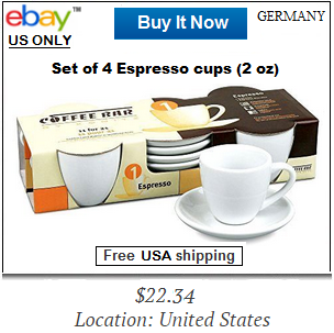 Konitz espresso white coffee cups