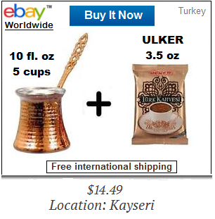 Ulker Turkish coffee and pot