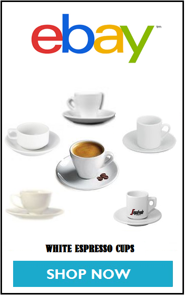 White Espresso Cups at EBAY