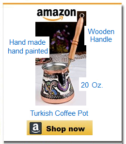 Hand-painted large coffee pot cezve