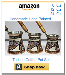 Hand-painted set of 3 coffee pots cezve