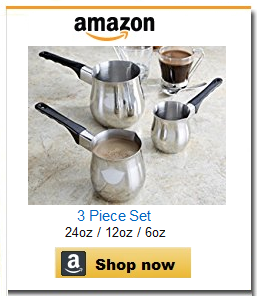 Stainless steel set of 3 coffee pots