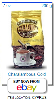 Charalambous gold package Cyprus coffee