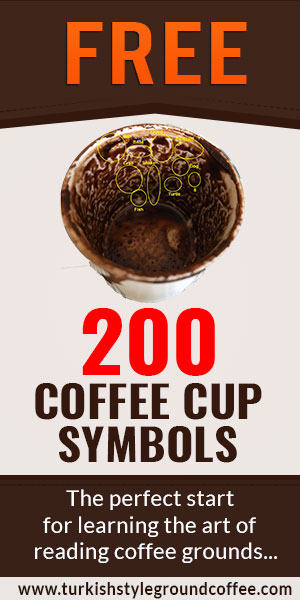 Turkish coffee cup symbols