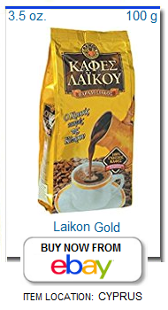 Laikon gold package Cyprus coffee
