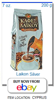 Laikon silver package Cyprus coffee