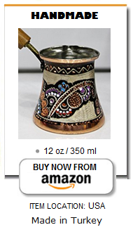 Painted Turkish coffee pot