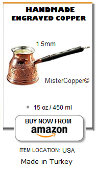 Turkish coffee pot handmade copper