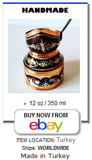 Color handmade Turkish coffee pot