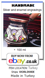 Ornate Turkish coffee pot