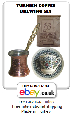 Turkish coffee making and serving set for one