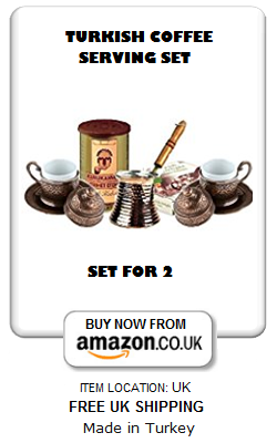 Turkish coffee making and serving set for two