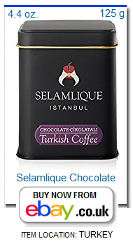 Selamlique Turkish coffee with chocolate flavor