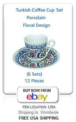 Traditional Turkish coffee cups