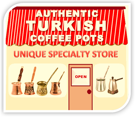Turkish coffee pots store