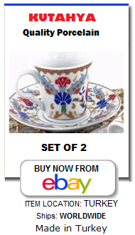 Turkish coffee cup set for 2 people