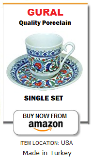 Turkish coffee cup and saucer