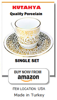 Premium Turkish coffee cup set