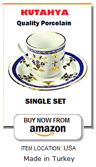 Traditional Turkish coffee cup set