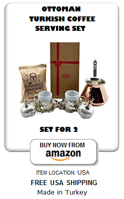 Ottoman Turkish coffee set for 2