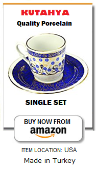 Porcelain Turkish coffee cup set