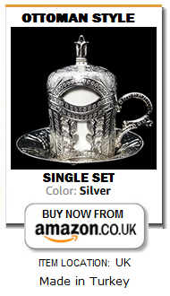 Single Ottoman Turkish Silver Coffee Cup