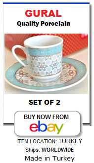 Turkish coffee cups gift set