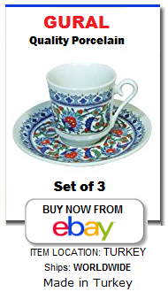 Traditional Turkish coffee cups set of 3