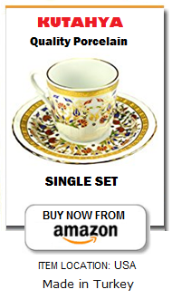 Turkish Coffee cup and saucer Amazon