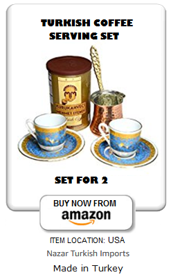 Turkish coffee set for 2