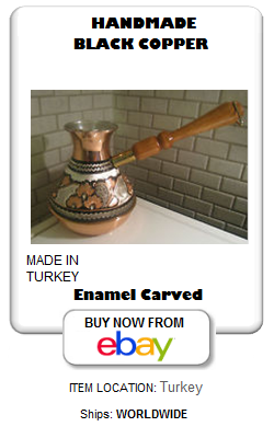 Russian shape Turkish coffee pot