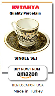 Turkish coffee cup and saucer for 1 person